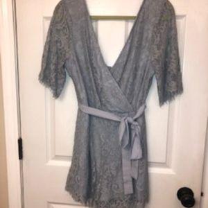 Trixxi periwinkle lace jumper Large.